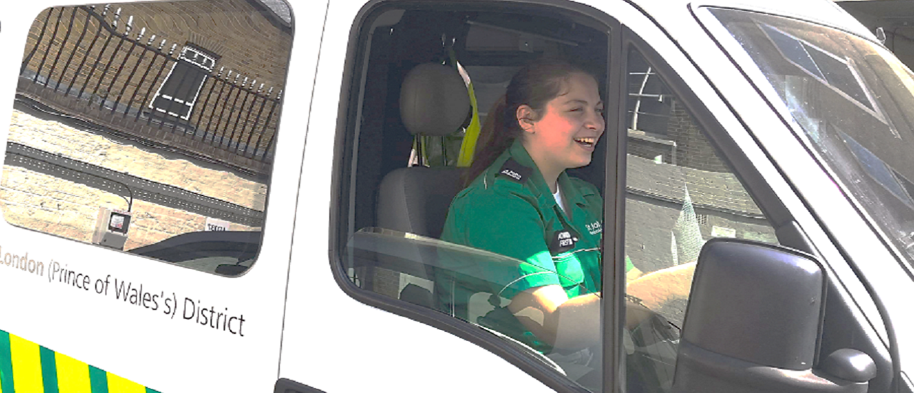 Product Design student volunteers for St Johns Ambulance