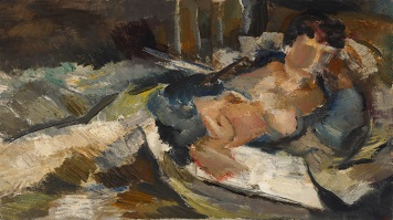 Dorothy Mead's reclining figure painting