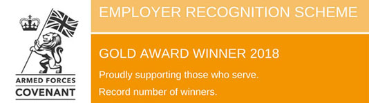 Armed Forces Covenant Employer Recognition Scheme Silver Award