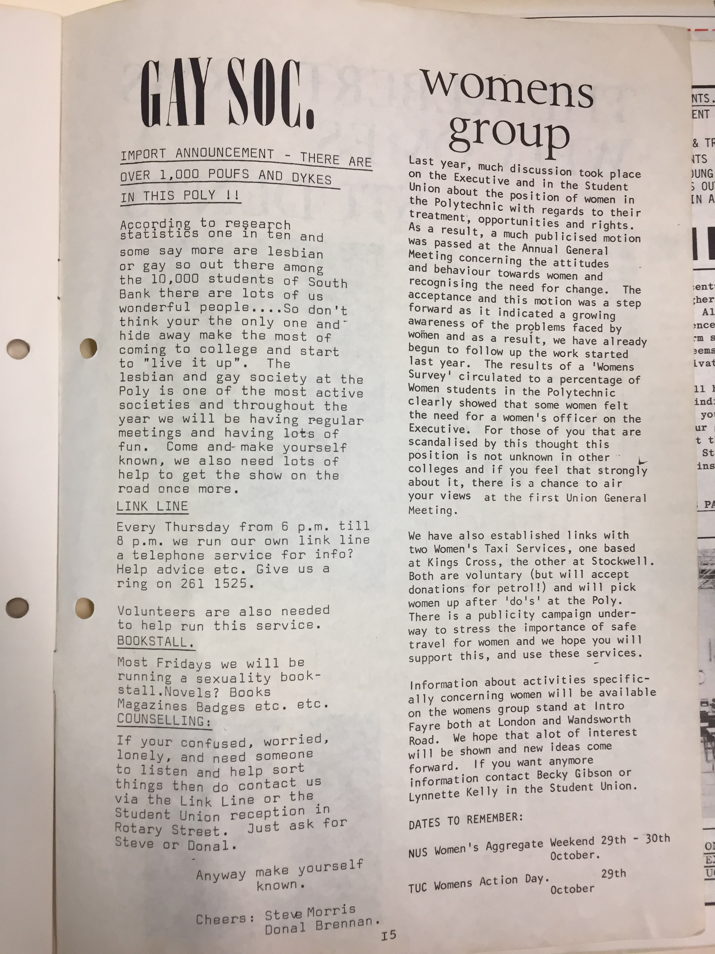 magazine column