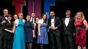 LSBU being awarded Entrepreneurial University of the Year at the Times Higher Education Awards 2016