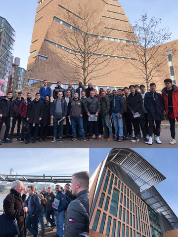 Tour of Tate Modern and Francis Crick Institute, February 2019